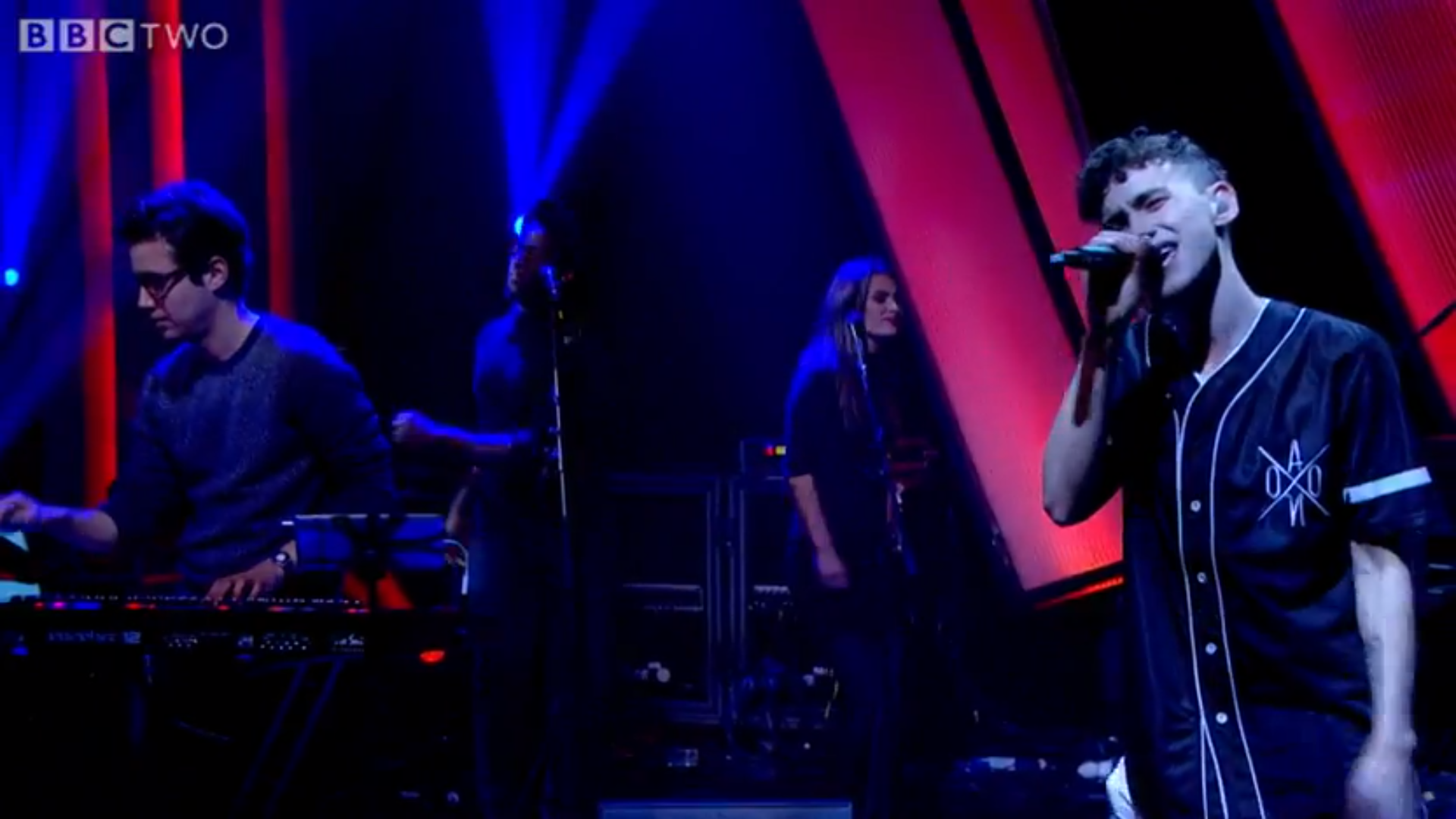 Years and Years performing on BB2 wearing AONO